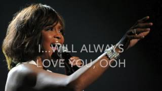 I will always love you - Whitney Houston - Karaoke female version lower (-2)