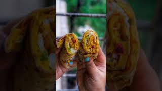 Yummy Roti Chilla Roll | Easy Snack Recipe | Easy Recipes | 10 Minute Recipes #shorts