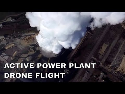 Drone exploration : an active power plant