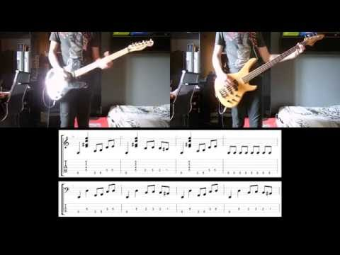 Muse - Hyper Music Guitar and Bass cover with tabs