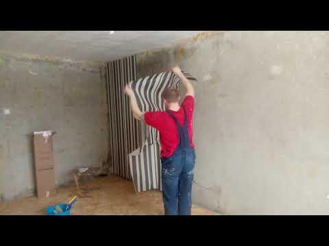 Поклейка обоев на бетон без шпаклевания стен