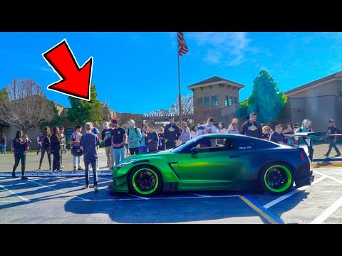 picking-up-little-sister-from-high-school-in-1000hp-gtr!