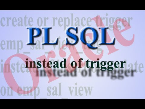 How To Insert Or Update A View Using Instead Of Trigger In PL SQL