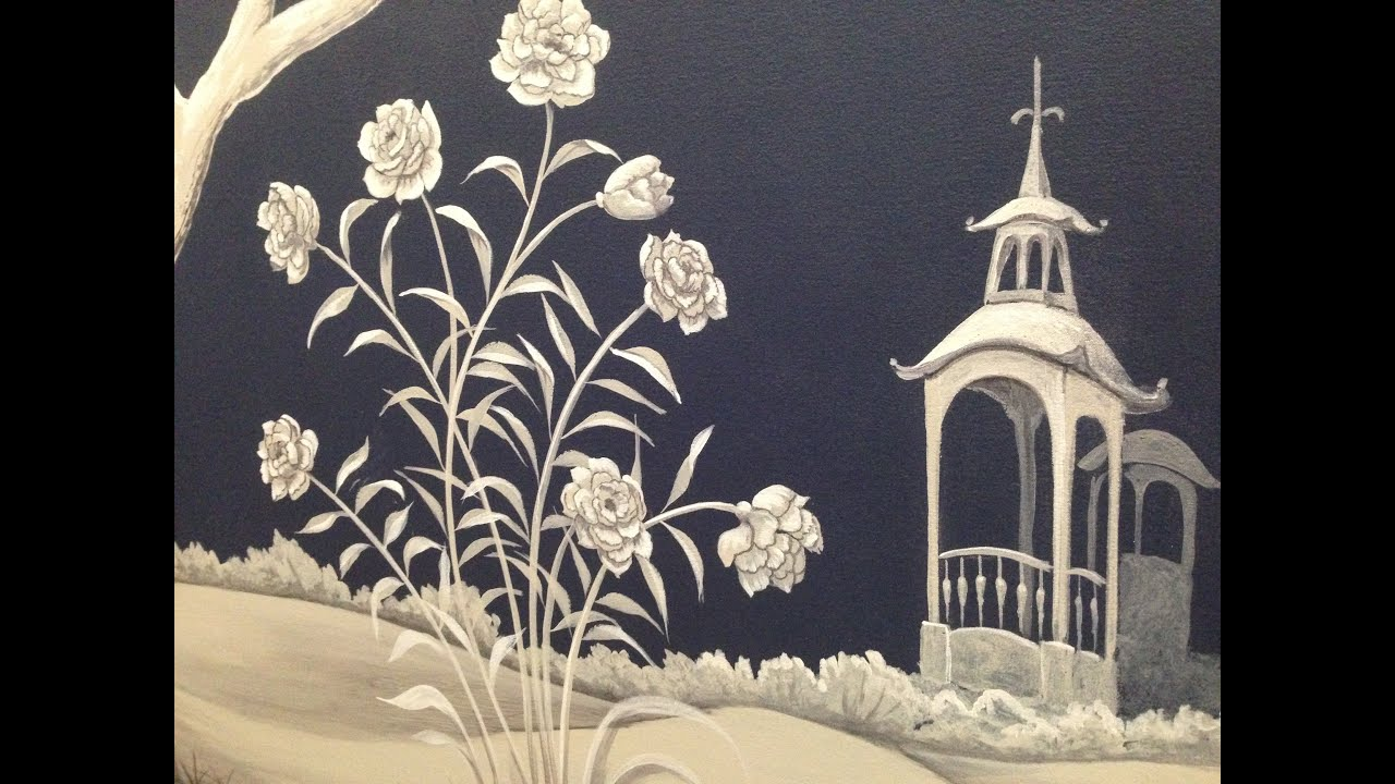 Chinoiserie Mural Time Lapse Artisan Rooms