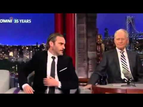 Joaquin Phoenix on David Letterman Full Interview