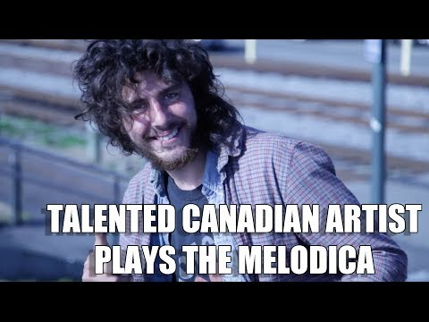 TALENTED TRAVELING CANADIAN MUSICIAN PLAYS THE MELODICA!!!