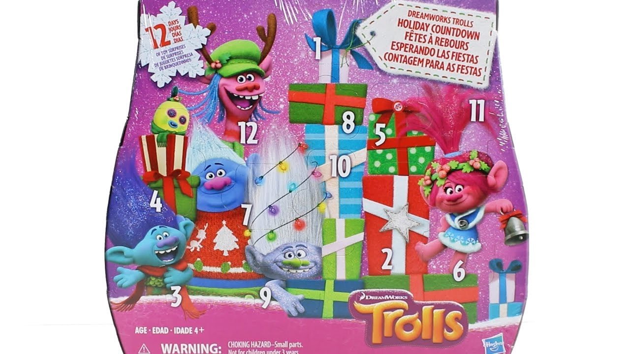 Dreamworks Trolls Advent Calendar 2017 Unboxing Toy Review Holiday
