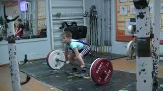 Бармин Иван, 9 лет, вк 38 На грудь в сед  25 кг кг Есть Личный рекорд!