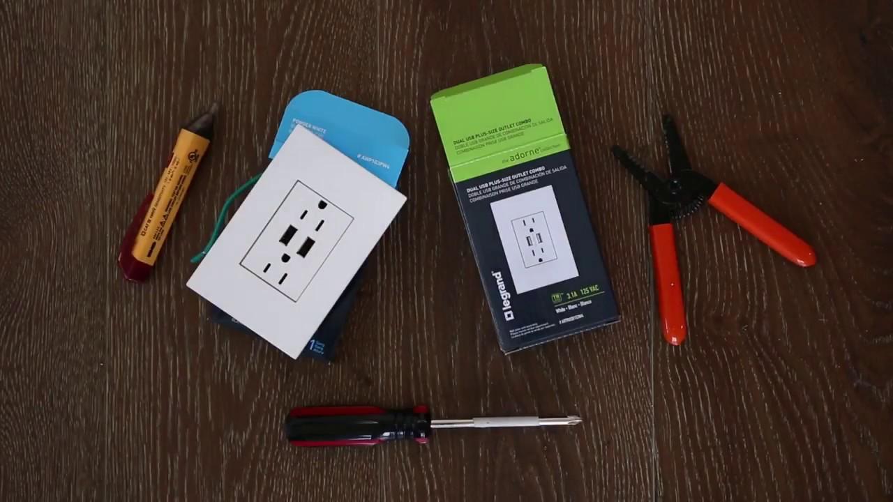 Plus-size Combo Outlet White Legrand Adorne ARTRUSB153W4 Dual USB