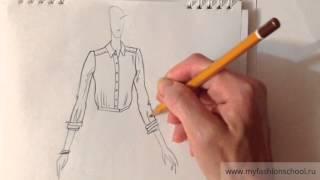 Myfashionschool - эскизы одежды для начинающих