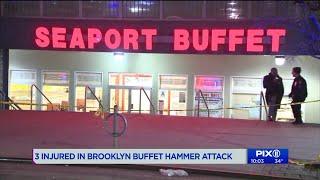 3 injured in Brooklyn hammer attack at buffet
