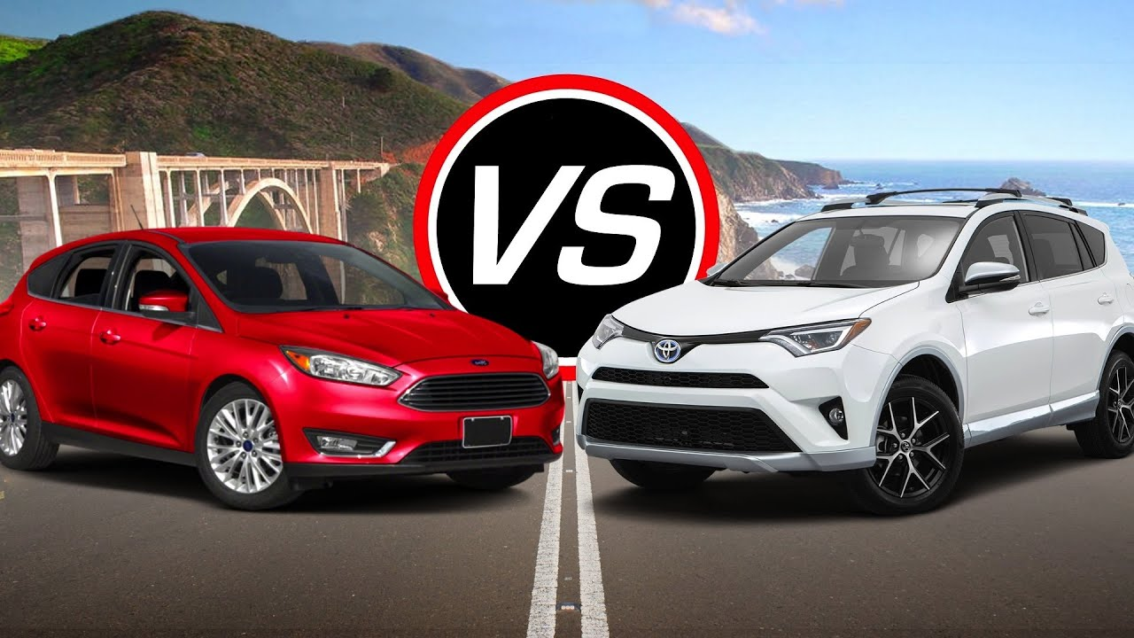 2016 ford focus vs 2016 toyota rav4 hybrid spec comparison