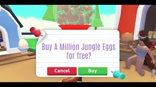 HATCHING A MILLION JUNGLE EGGS IN ADOPT ME / ROBLOX