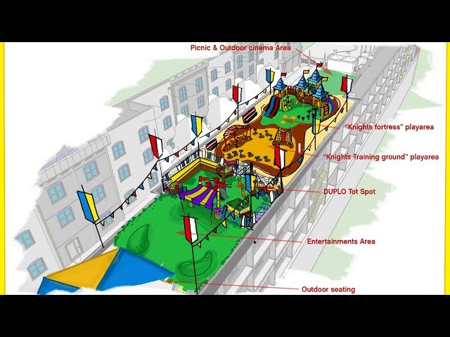 Royal Courtyard - Legoland Castle Hotel Hard Hat Tour