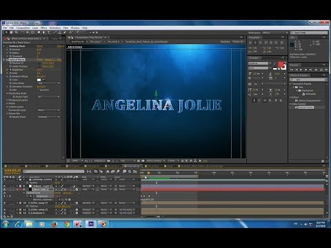 Text blue metal in adobe after effect