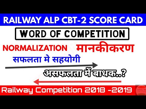 Alp cbt2 score card & Word of Competition :- Normalization