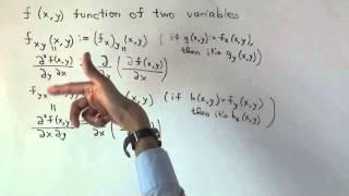 Second-order mixed partial derivative, Clairaut