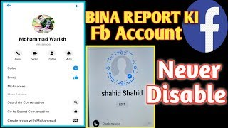 HOW TO CREAT WITHOUT REPORT OPTION ACCOUNT 2019 | NAVER REPORT ON FACEBOOK | BY SHAHID TRICKER