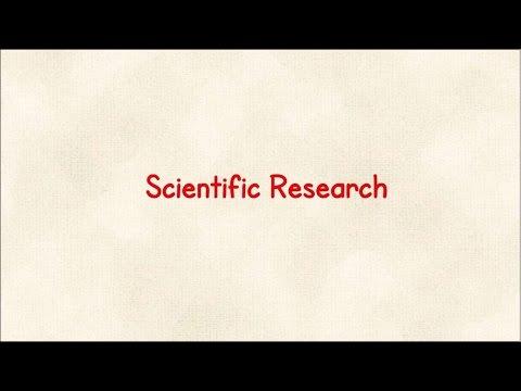 Scientific Research - Part 1 : Introduction