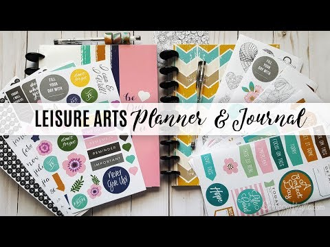 Unboxing & Review: Leisure Arts The Art of Planning and The Art of Journaling from Walmart