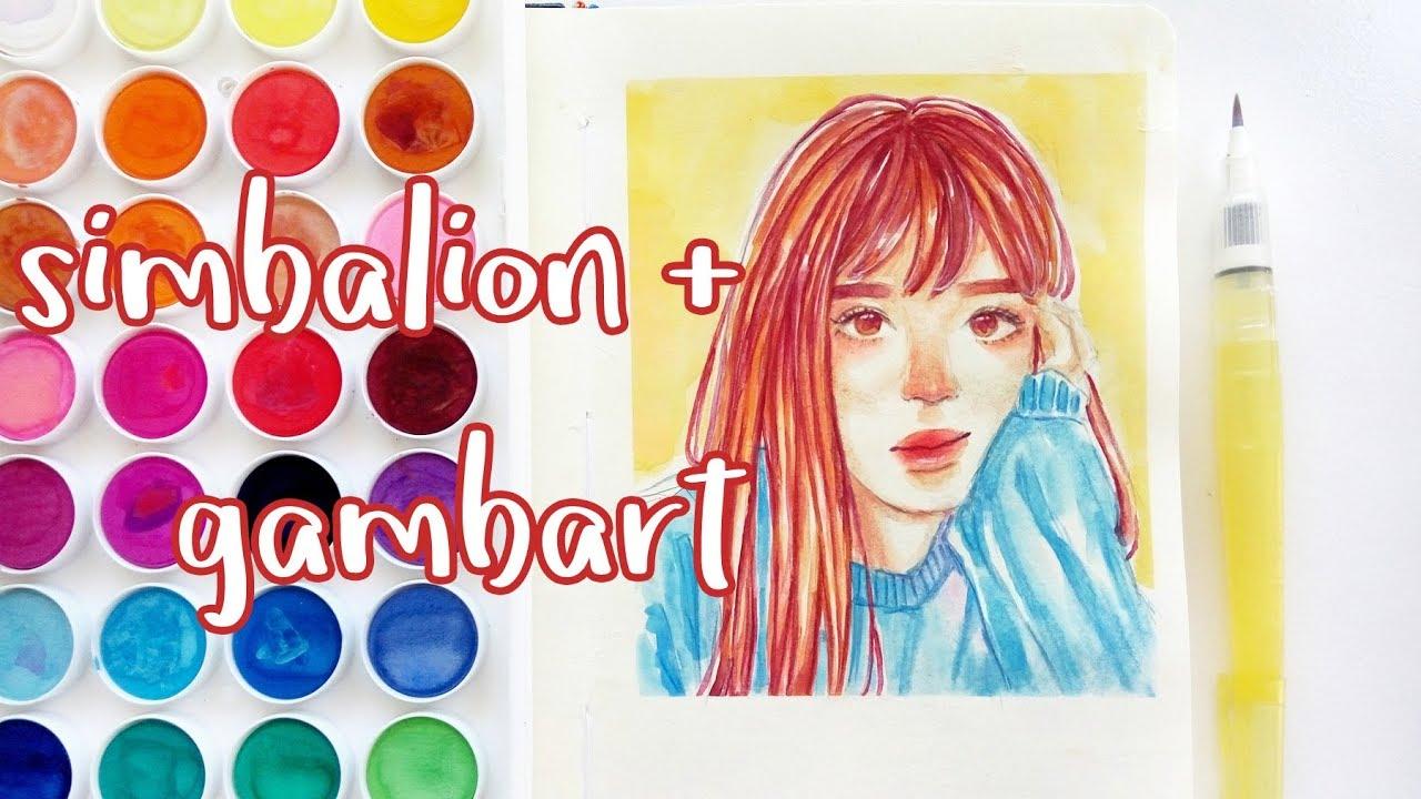 Simbalion Watercolor Gambart Sketchbook Watercolor Speedpaint