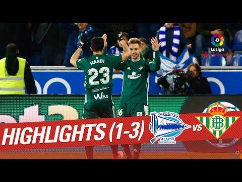 Resumen de Deportivo Alavés vs Real Betis (1-3)