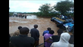 Passengers escape death after floods sweep away bus in Turkana