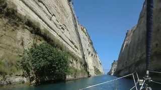 Коринфский канал, Kanal von Korinth, Corinth Canal(Канал в Греции, соединяющий Саронический залив Эгейского и Коринфский залив Ионического морей.Длина канал..., 2012-07-27T09:58:08.000Z)