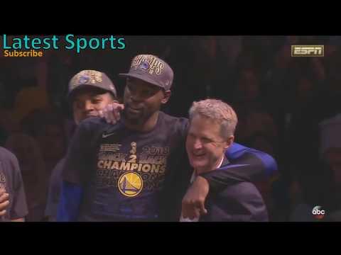 Warriors Championship Celebration and Trophy Ceremony - 2018 NBA Finals Warriors vs Cavs
