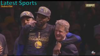 Warriors Championship Celebration and Trophy Ceremony - 2018 NBA Finals Warriors vs Cavs