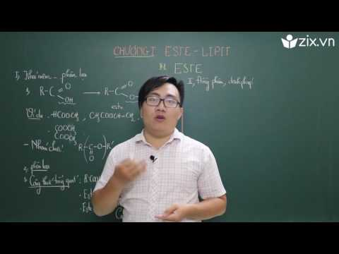 Bài 1: Este - Thầy Trần Phương Duy
