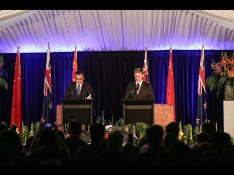 Premier Li and Bill English media conference