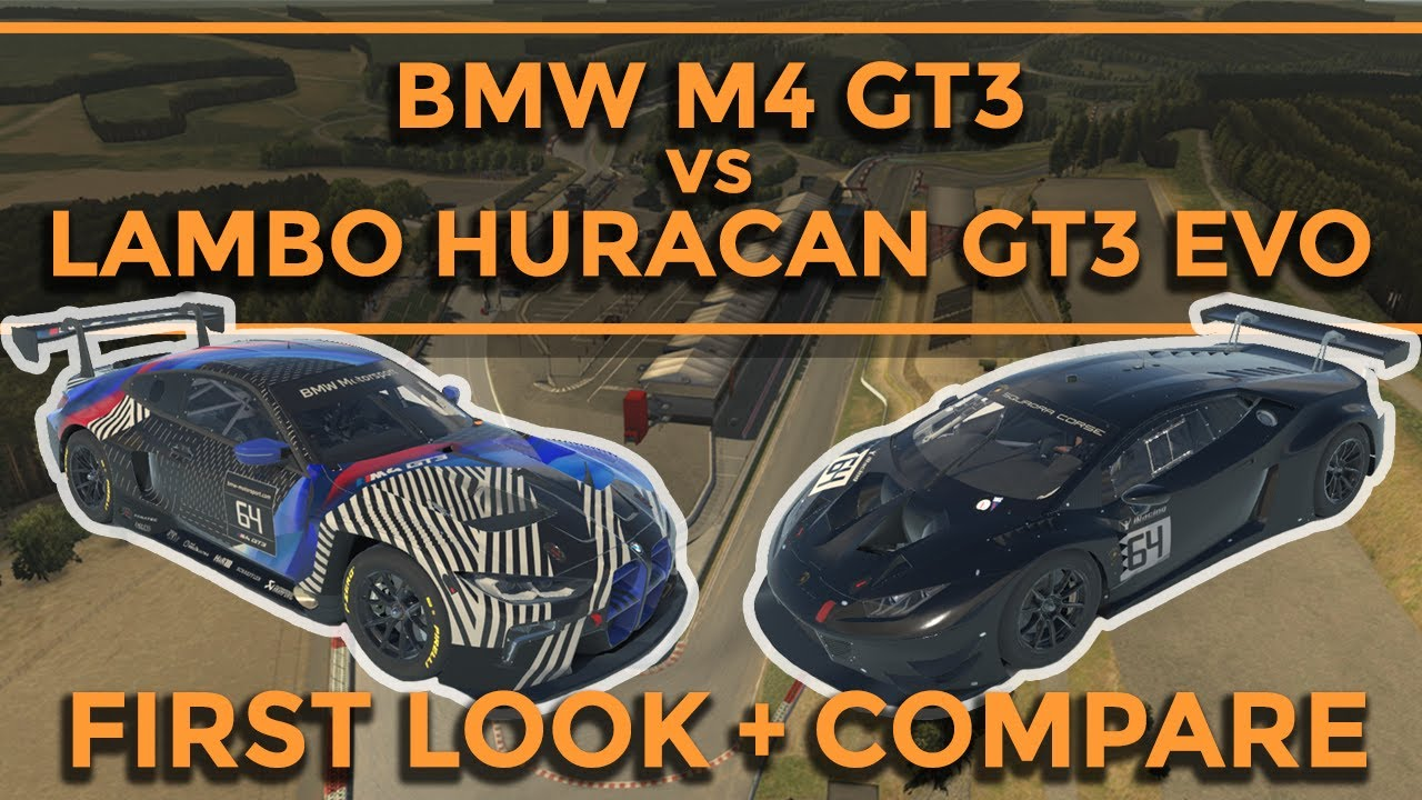 David Sampson: IRacing GT3 shootout BMW M4 vs Lambo