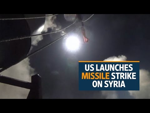 US strikes Syria in response to gas attack by Assad regime