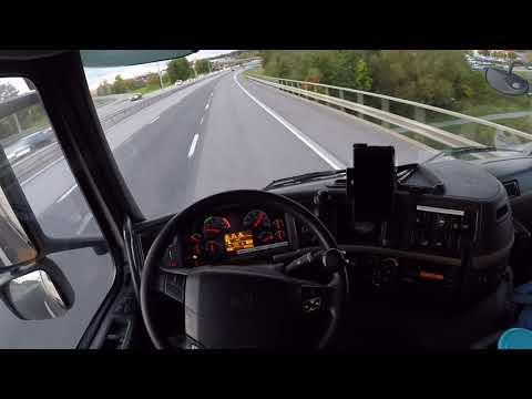 Relaxing Volvo FM Evening Drive (no talking, Engine Sound only) Truck & Trailer