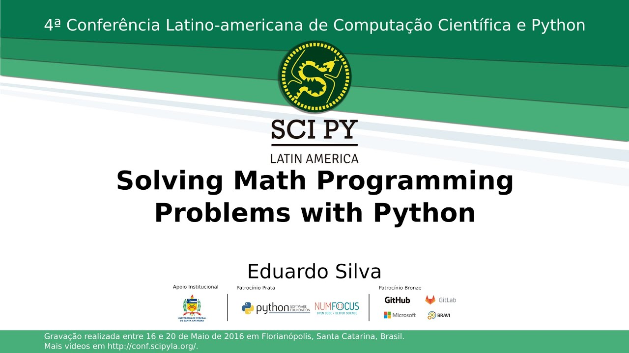 Image from Solving Math Programming Problems w/ Python
