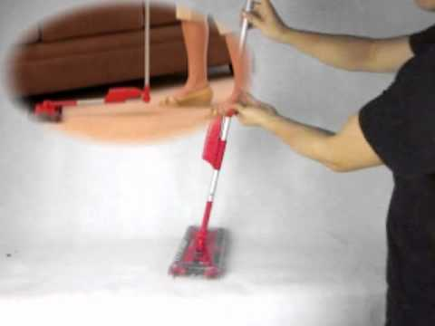 Cordless Electric Sweeper With Swivel Floor Cleaning Brush