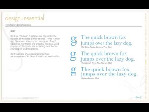 24  Design Principles - Typography,  Typeface Classification