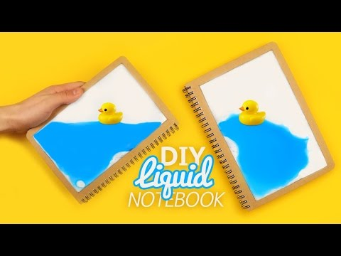 DIY | LIQUID NOTEBOOK - Tutorial!