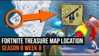 Fortnite Treasure Map Location Guide - Season 8 Week 8 Challenges