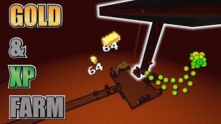 Minecraft GOLD Farm & XP Farm | Pigman Gold Farm