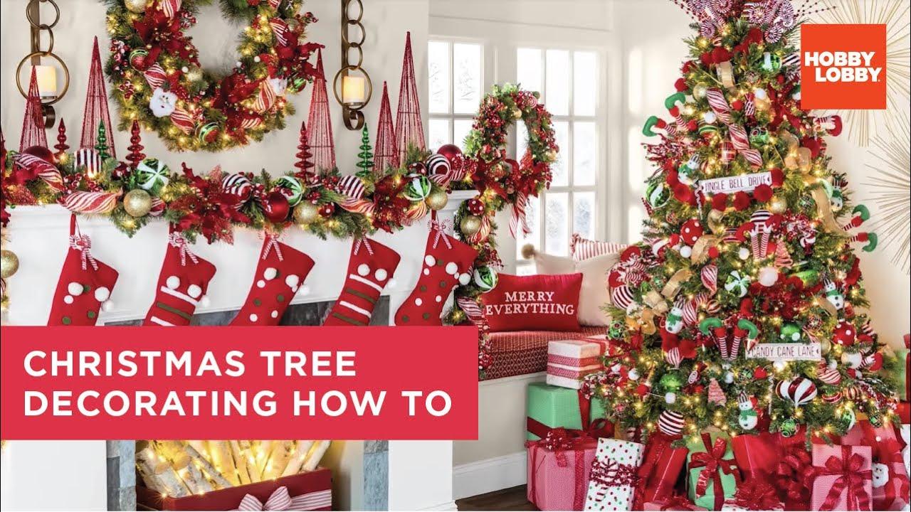 Hobby Lobby Christmas Eve Hours 2021 Christmas Tree Decorating How To Hobby Lobby Youtube