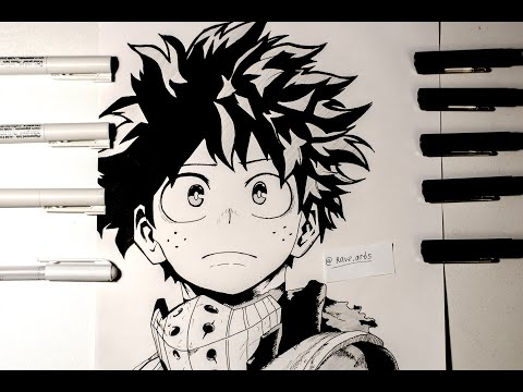 Speed Drawing - Izuku Midoriya (Deku) [BOKU NO HERO ACADEMIA]