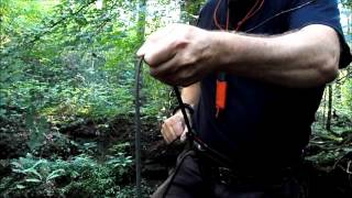 Survival Rappelling with Parachute Cord, Paracord abseiling