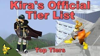 Kira's Official Melee Tier List - Part 1 - Super Smash Bros Melee