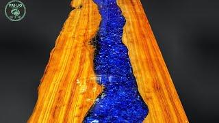Epoxy Resin Bar Top using Reclaimed Wood