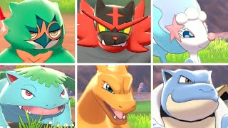 Pokémon Sword & Shield - All Starter Signature Moves