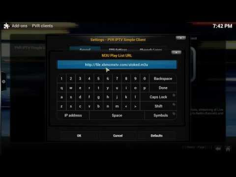 New xbmc IPTV pvr simple client link 2-2- 2015. Over 1,300 channels .m3u