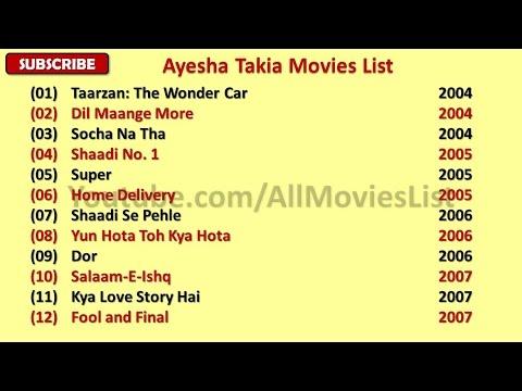 Ayesha takia movie list