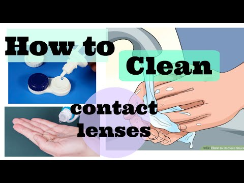 how to wash & clean your contact lenses + The importance of different solutions.